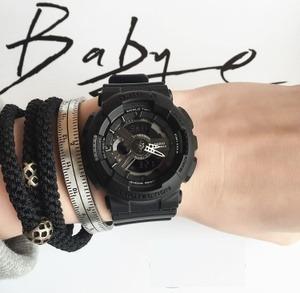 reloj casio baby g ba 110 1a negro mate dama nuevo funcional