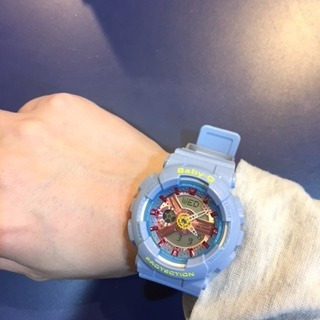 reloj casio baby g ba-110ca-2a azul celeste oferta femenino