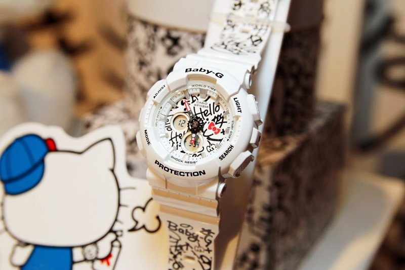 Reloj Casio Baby g Ba120kt Edición Hello Kitty Original