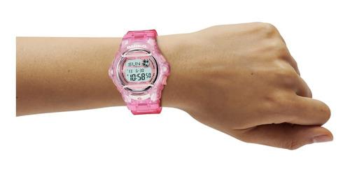 reloj casio baby-g bg-169r-4cr splash rosa transparente