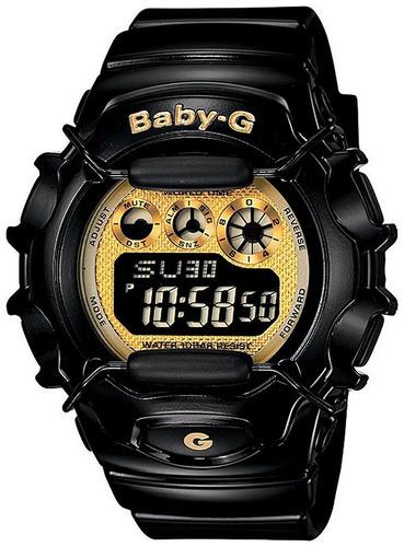 reloj casio baby-g  #bg1006sa-1c negro femenino