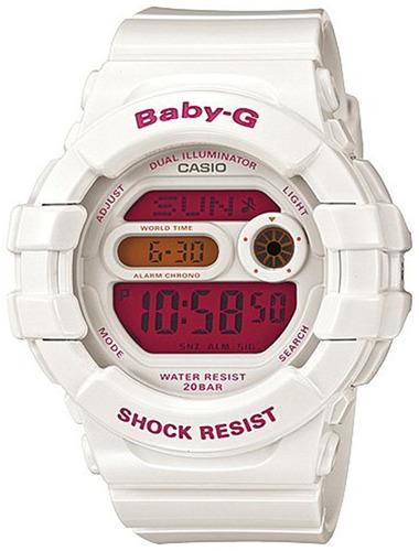 reloj casio baby-g bgd bdr blanco femenino