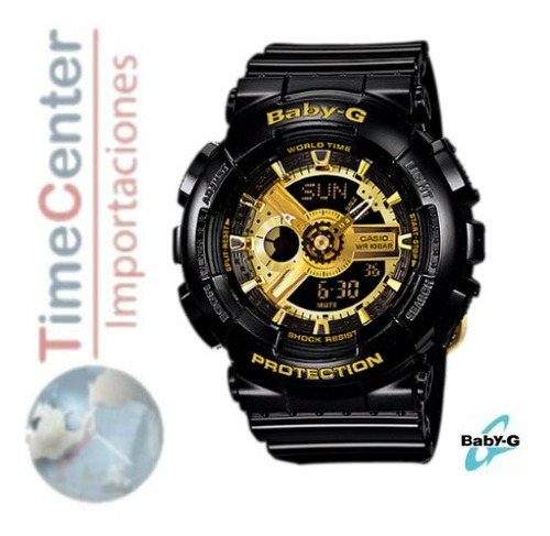 reloj casio baby-g digital, análogico para mujer ba-110-1a