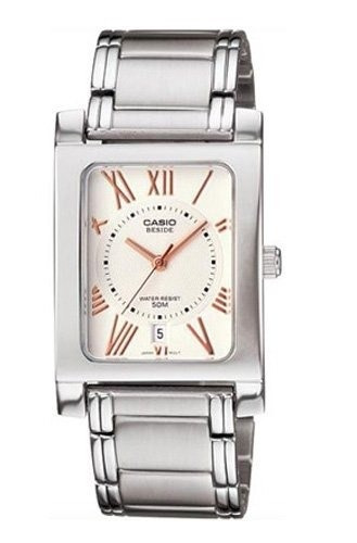 reloj casio beside bem100d-7a3vdf plateado
