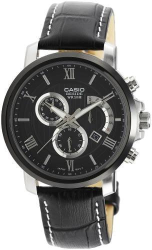 reloj casio beside bem507bl-1av negro