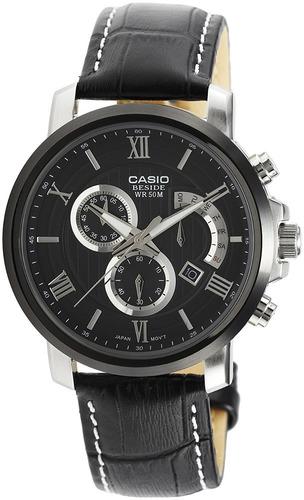 reloj casio beside bem507bl-1av negro masculino
