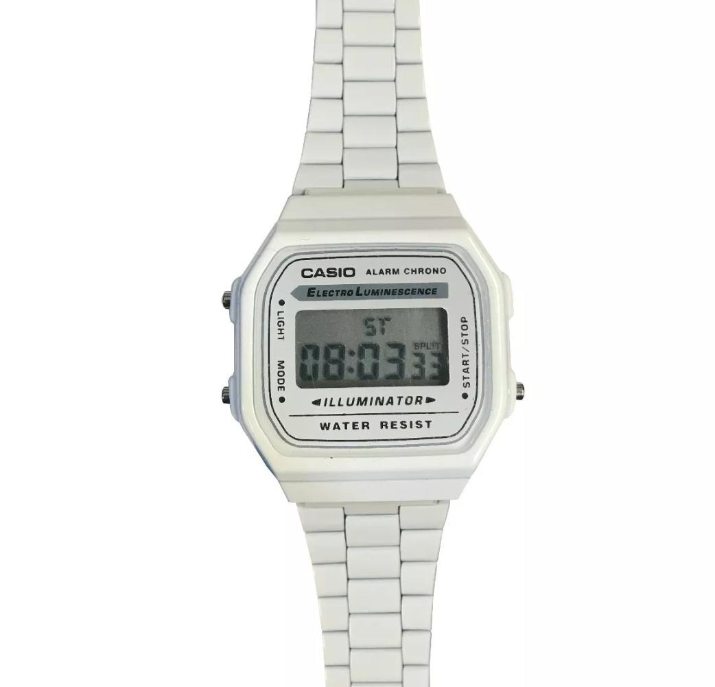 Reloj Blanco Retro A168 Casio Reloj Casio D9eYHEWI2