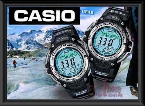 reloj casio brujula y termometro, nuevo! funciones, garantia