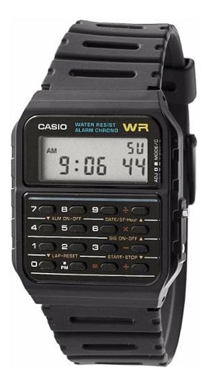 Casio Hombre Correa 53w 1z Resina Calculadora Reloj Ca WEIDH29