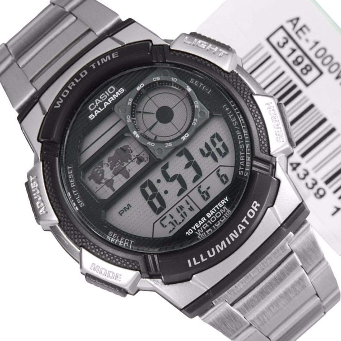 Reloj Casio Caballero Digital Alarma Crono Luz Mod Ae 1000wd