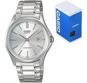 Reloj Casio Caballero Mtp1183 Plata Acero Barras Fechador