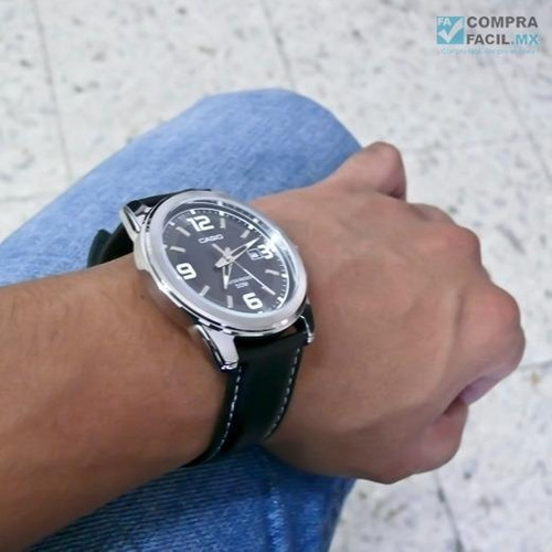 reloj casio caballero mtp1314 - piel - fechador - cfmx