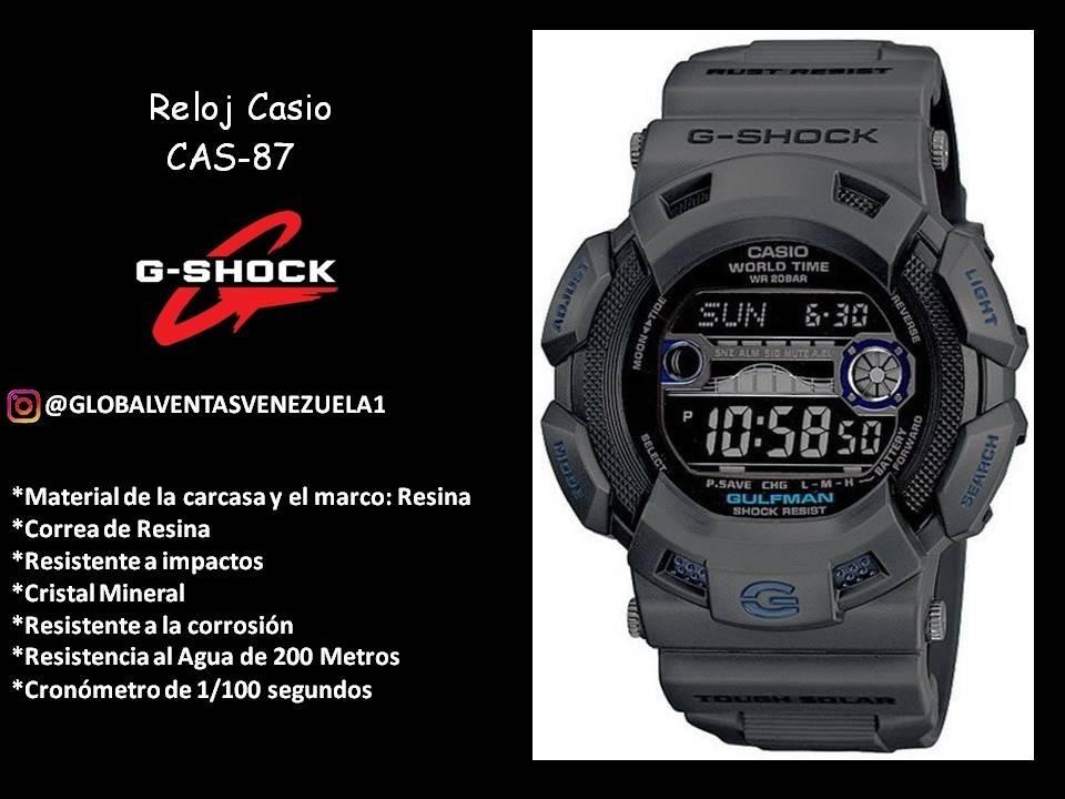 Reloj Casio Caballero Original Goma G shock Cas 87