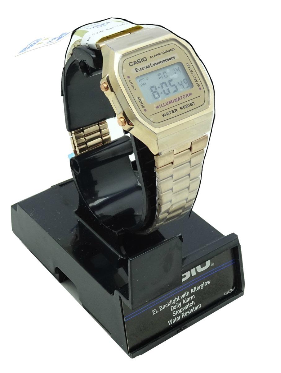 a94f020ce3ce reloj casio caballero retro digital con luz color rosado 69. Cargando zoom.