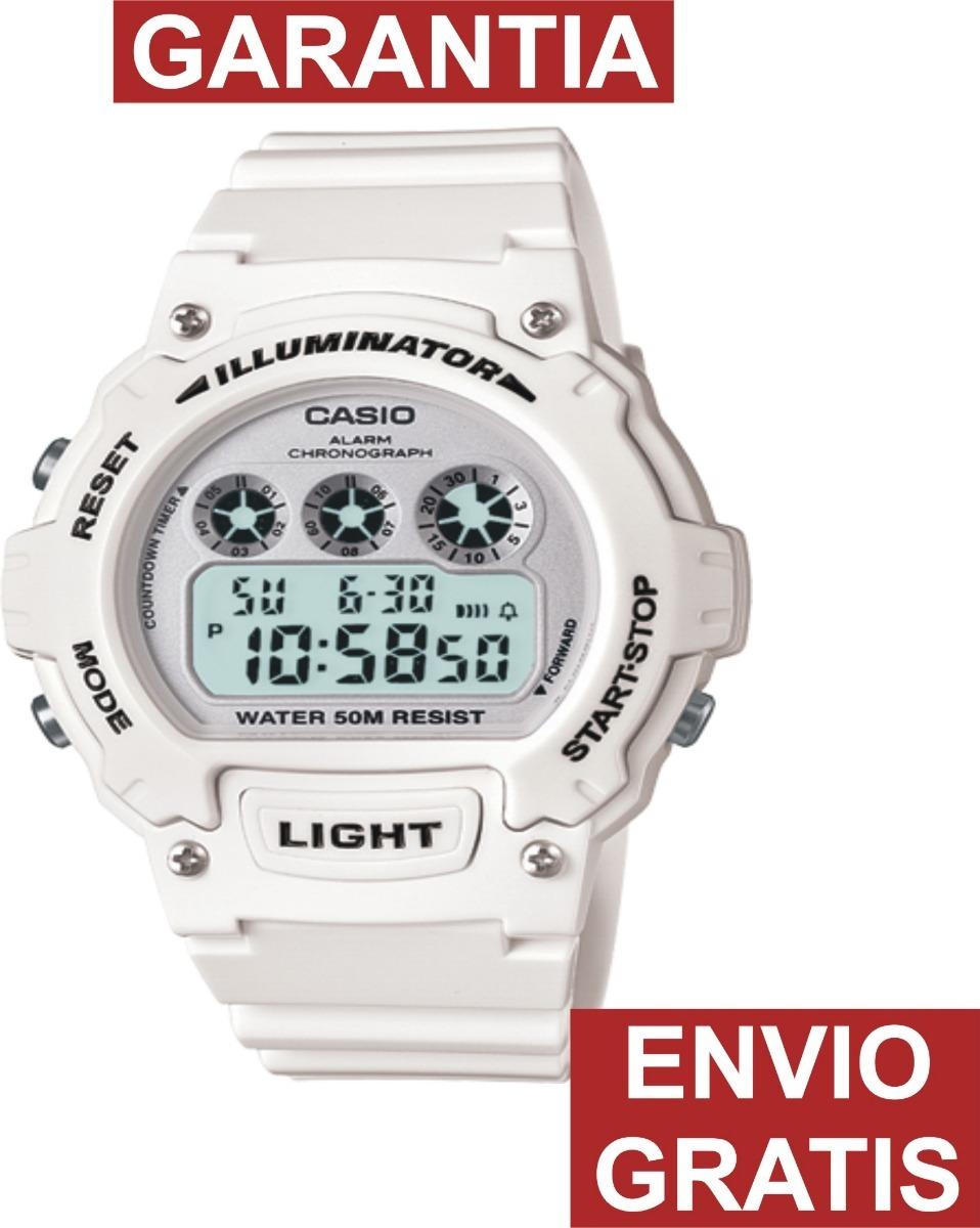 7a3af03f38aa Reloj Casio Caballero W214 Alarma Wr50 Mts Crono Luz -   589.00 en ...