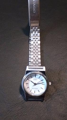 reloj casio caja de acero dama como nuevo c/garantia ¡¡¡¡¡¡¡