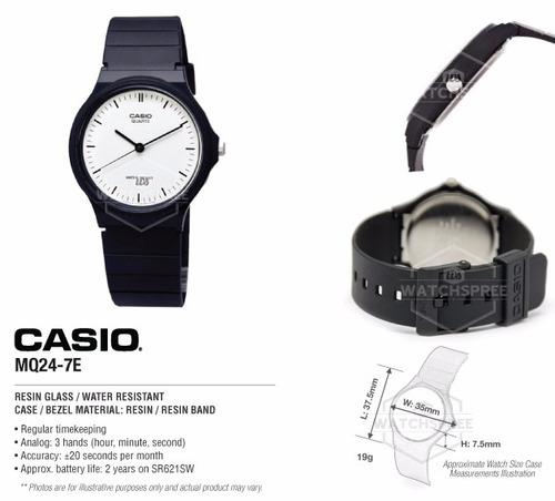 reloj casio casual mq24-7e nuevo en caja