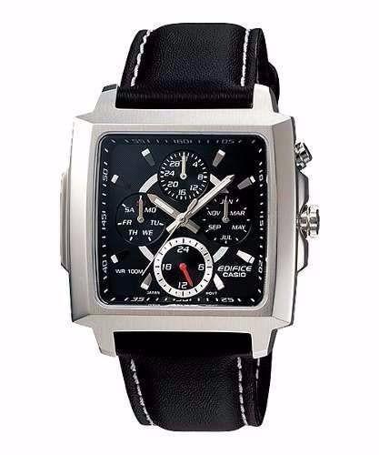 reloj casio casual para hombre ef-324l-1avdf negro y cafe