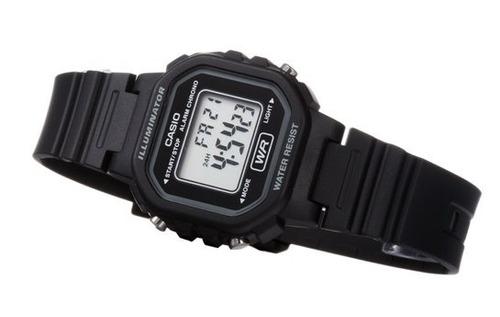 reloj casio clasico 100% original en caja la-20wh iluminator