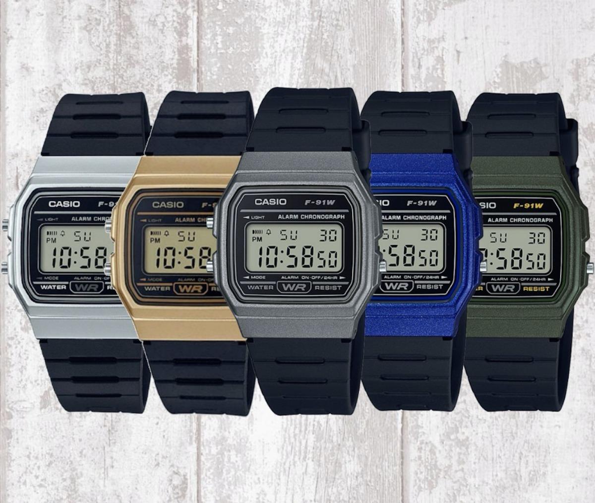 bb9ec3ec66c5 reloj casio clasico f91 vintage dorado original envío gratis. Cargando zoom.