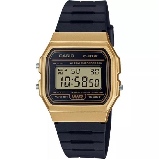 4d3c9b7878f1 Reloj Casio Clasico F91w Negro Dorado + Estuche Envío Gratis ...