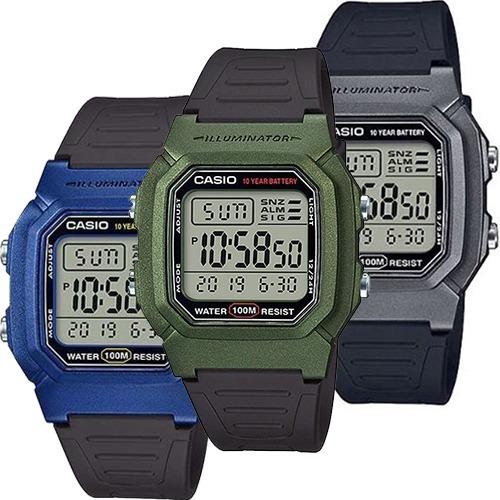 98f8c3983602 Reloj Casio Clasico Vintage W800 Varios Colores Sumergible ...