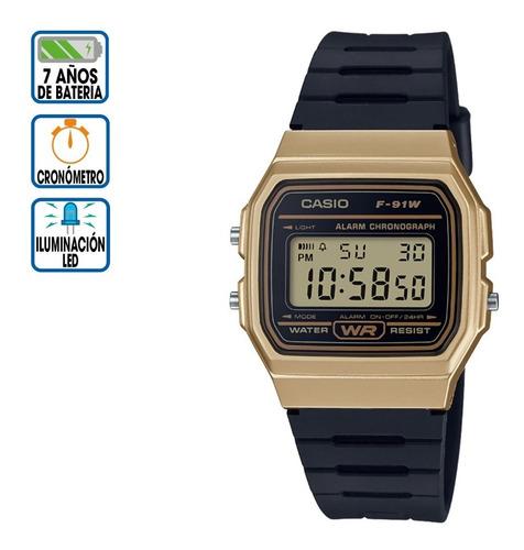 reloj casio core digital f-91wm-9