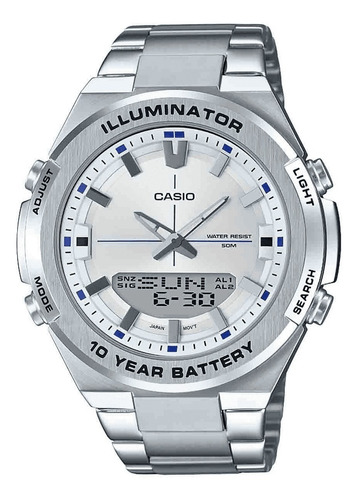 reloj casio core plateado amw-860d-7a
