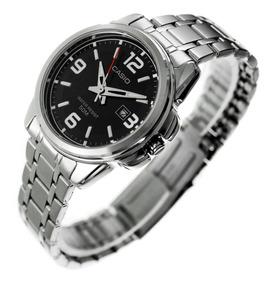 Reloj Casio Dama, Acero Y Cristal Mineral, Sumergible.