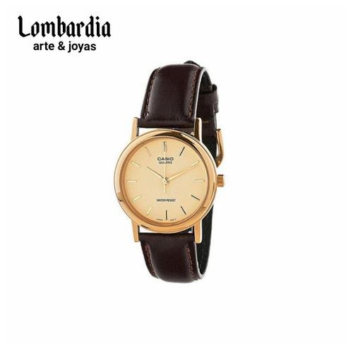 reloj casio dama ltp-1095q-1a malla de cuero. envio gratis.