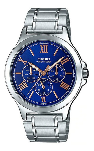 reloj casio dama ltp-v300d acero y cuero multiaguja original