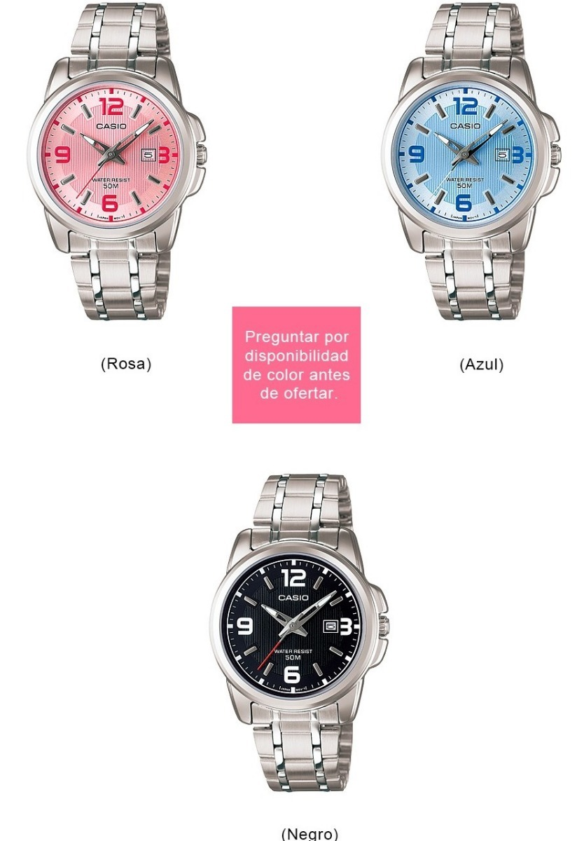 0aa81d6d476c Reloj Casio Dama Ltp1314 - Cristal Mineral - Fechador - Cfmx ...