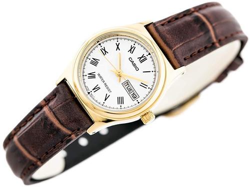 reloj casio dama pulso en cuero modelo ltp - v006gl-9b