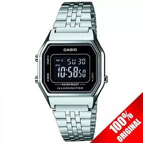 3d2f0c3e4ca4 Reloj Casio Retro Original Vintage Silver Plata A158wa - Reloj de ...