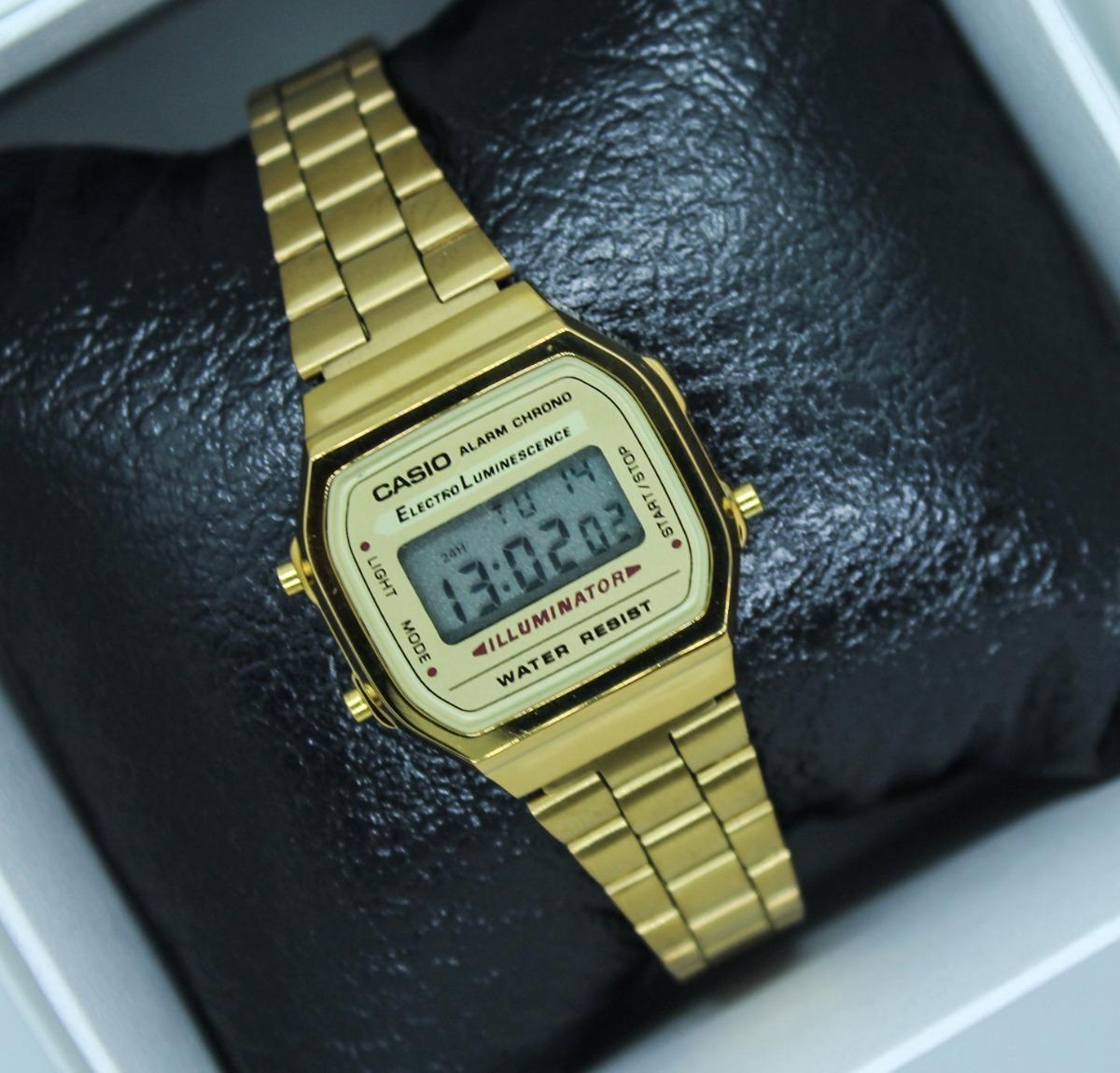 b8893ec0df93 reloj casio dama vintage dorado 1572 a168 mini envío gratis. Cargando zoom.