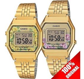 Reloj La680 Casio Dorado Edición Dama Vintage Flores mw8n0vNO