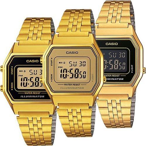 reloj casio dama vintage la680 dorado original