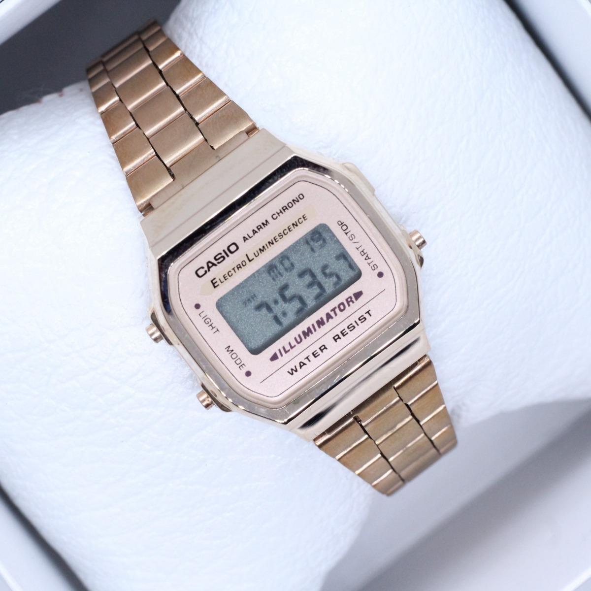 e0954e91503f reloj casio dama vintage rosa 1572 a168 mini envío gratis. Cargando zoom.