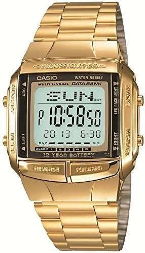 reloj casio databank dorado