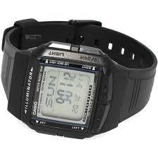 reloj casio db-36-1avdf, pantalla led, data bank, 50mts