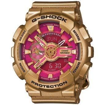 d3c7c219b96f Reloj Casio De Dama G-shock Modelo Gmas 110 Dorado Con Rosa ...