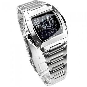 Reloj Casio De Hombre,acero Pulido100mts,cristal Mineral.