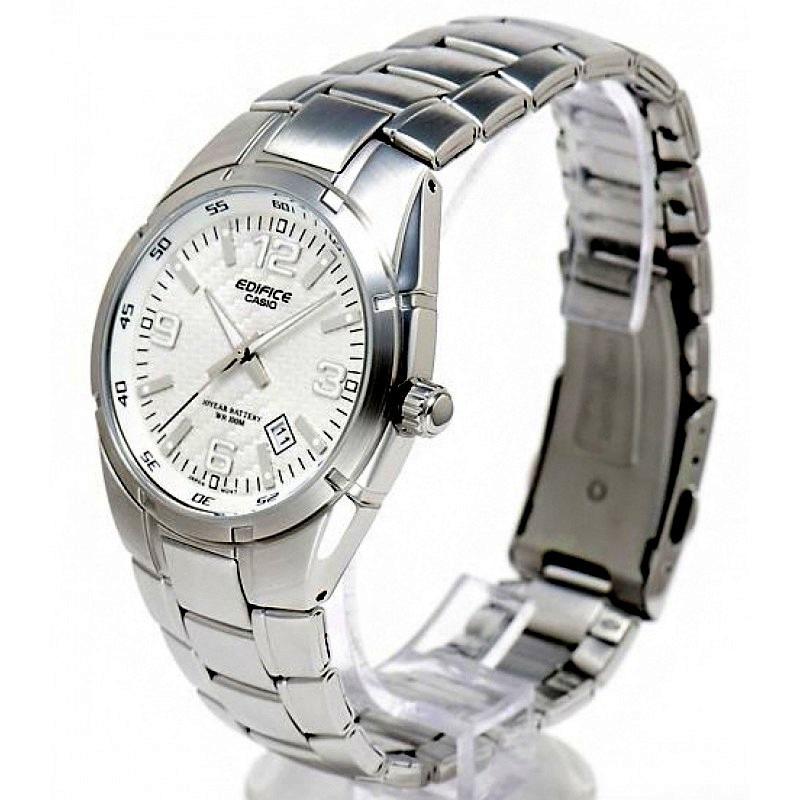 Reloj Casio De Hombre,acero,cristal Mineral,tono Blanco,100m