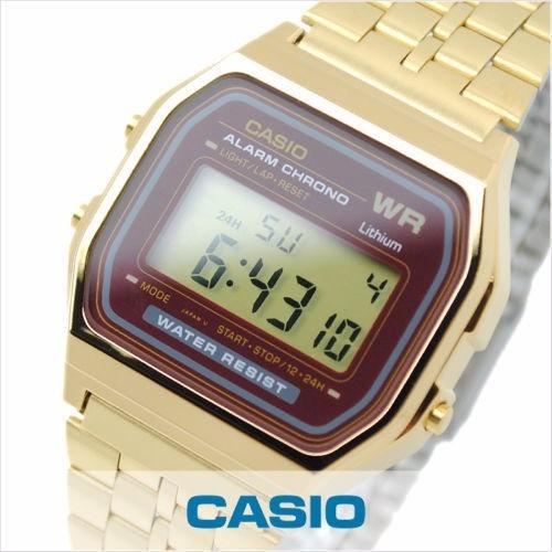 reloj casio digital a-168-wg retro crono alarma sumergible
