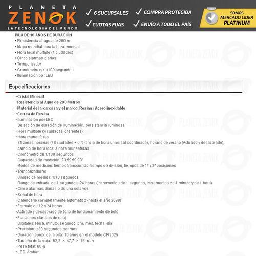 Reloj Casio Digital Ae-2100 Cronometro Sumergible Mundial -   3.359 ... 49d239b4f135