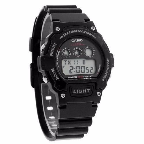 ce84f0fc7d45 Reloj Casio Digital Alarma Crono Luz Modelo W-214hc-1avef ...