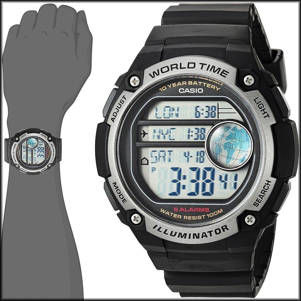 5bd8c36a6ab reloj casio digital caballero alarma crono luz mod ae-3000. Cargando zoom.