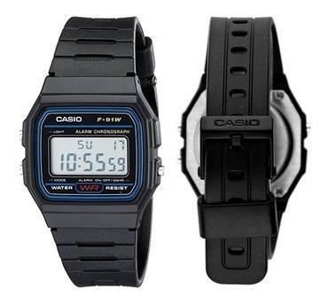 reloj casio digital f-91 moda retro vintage remate