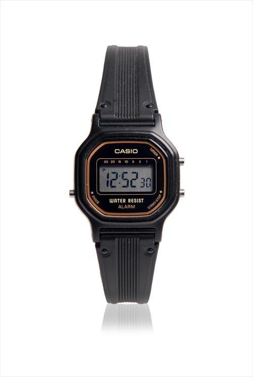 e45cb99339cc Reloj Casio Digital La11wb-1 Mujer Negro Resistente Al Agua ...