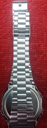 reloj casio digital unisex a159 plateado 100% original
